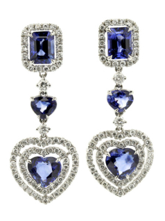 Jewellery valuation for Sapphire and diamond earrings
