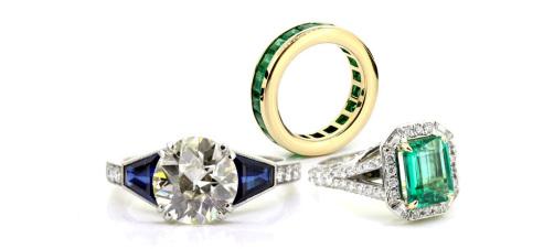 Diamond and Gemstone set rings